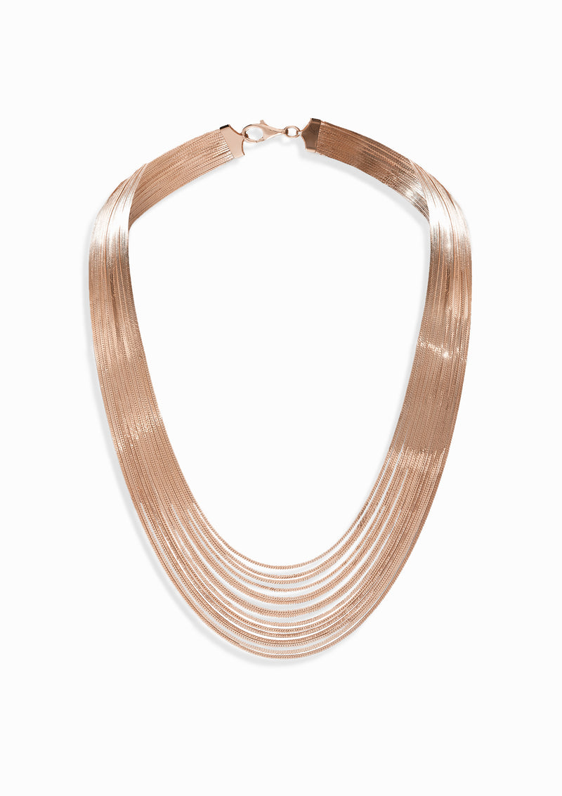 Haus of Dietrich Heritage Silk Royal Rose Gold Necklace