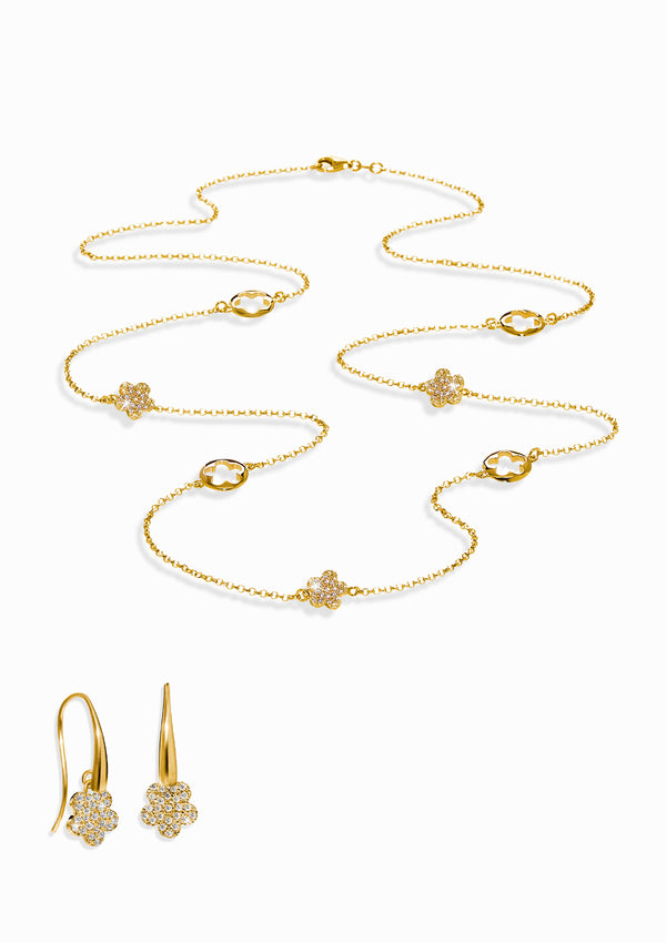 Haus of Dietrich Heritage Tuscan Lights Necklace and Earrings Set
