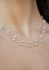 Milano Diamond Cut Necklace Silver