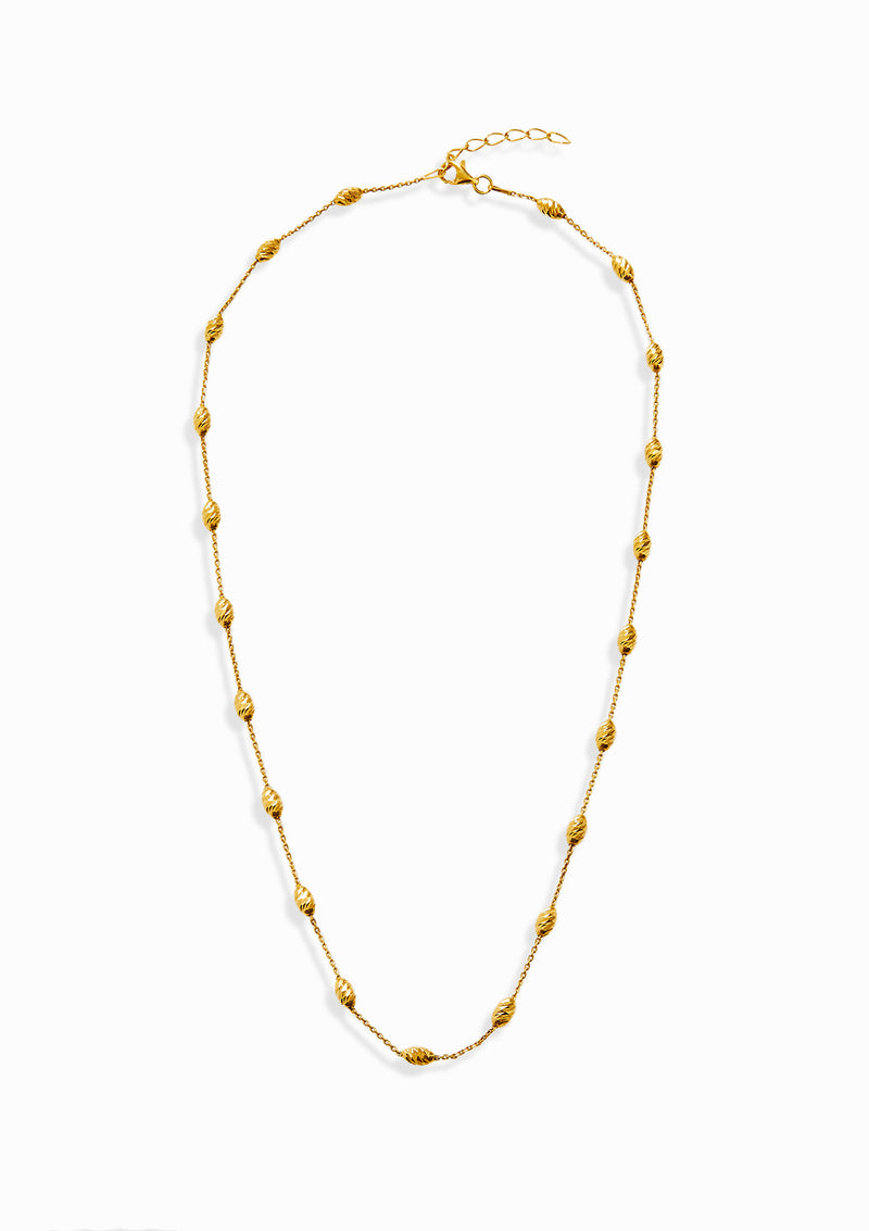 Haus of Dietrich Milano Diamond Cut Yellow Gold Necklace