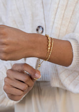 Milano Diamond Cut Friendship Bracelet Gold