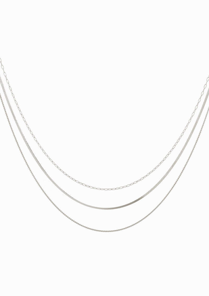 Haus of Dietrich Milano N°6 Layering Necklace Rhodium