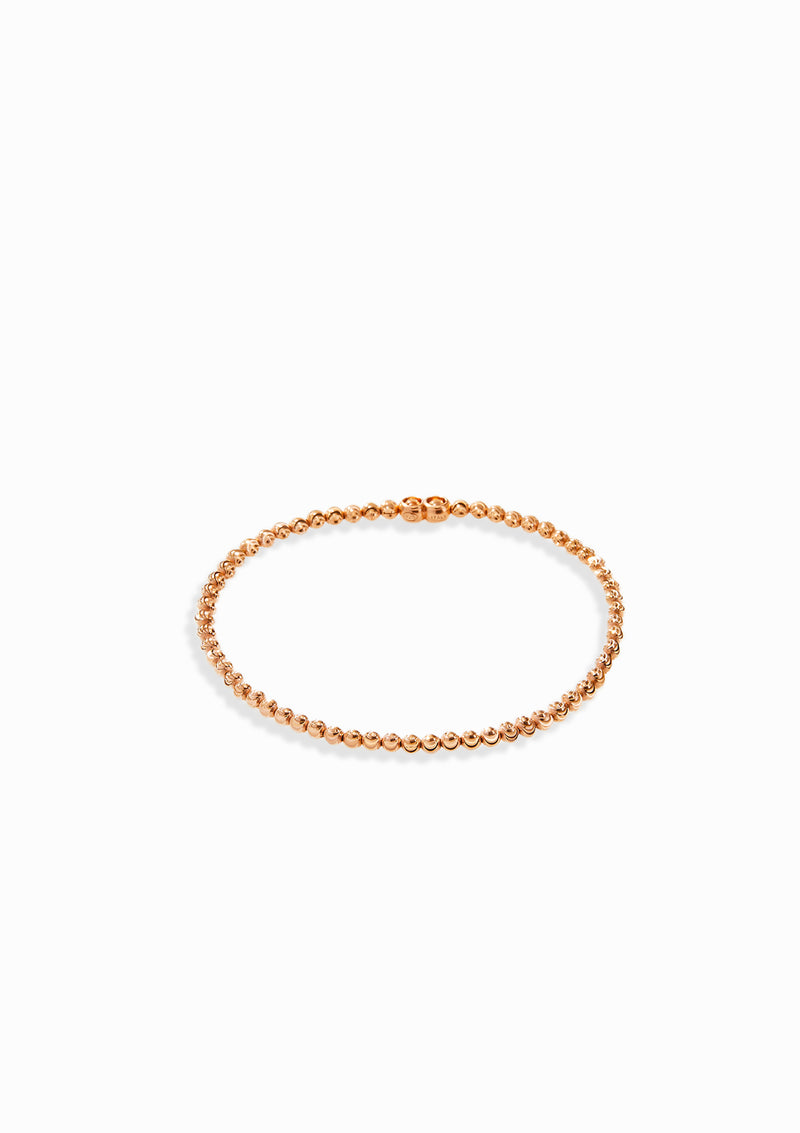Haus of Dietrich Milano Diamond Cut Elastic Bracelet Rose Gold