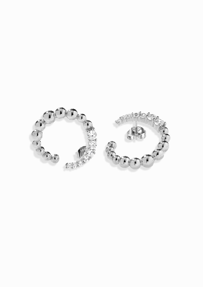Haus of Dietrich Milano Pearl Silver Earrings