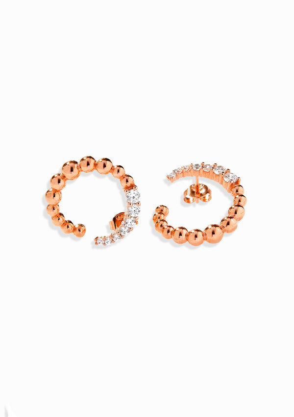 Haus of Dietrich Milano Pearl Rose Gold Earrings