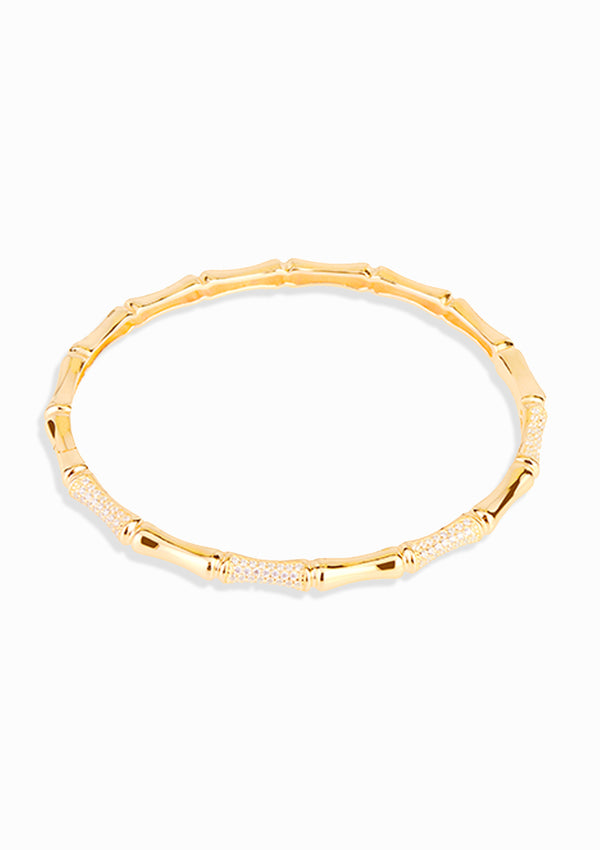 Haus of Dietrich Milano Bamboo Yellow Gold Bangle
