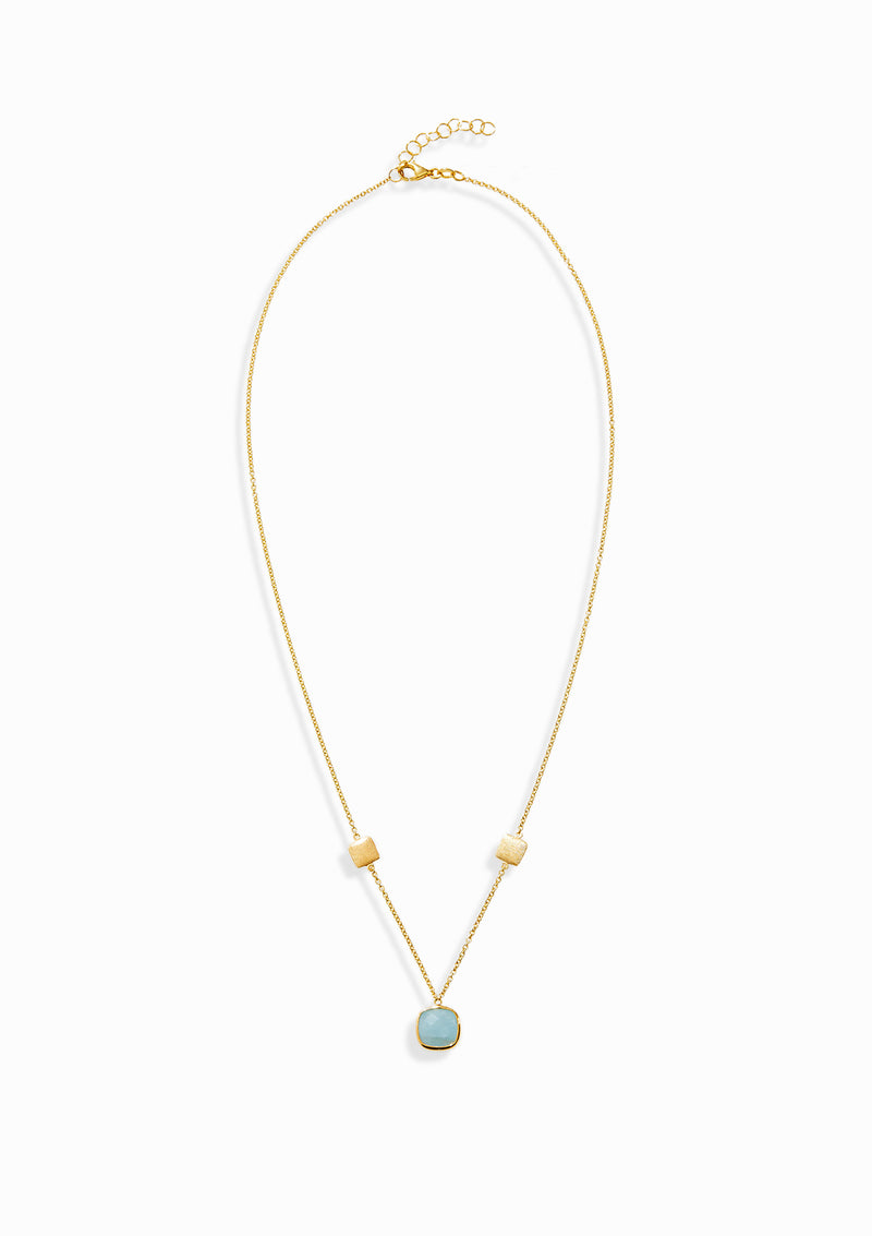 Haus of Dietrich Venezia Aquamarine Pendant Necklace