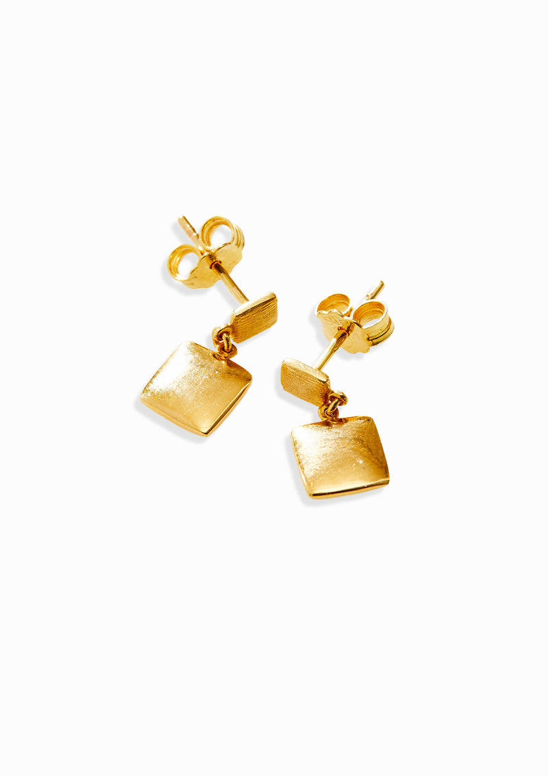Haus of Dietrich Venezia Nugget Gold Earrings