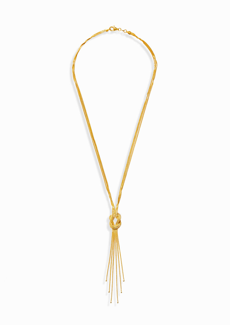 Haus of Dietrich Milano Knot Gold Necklace