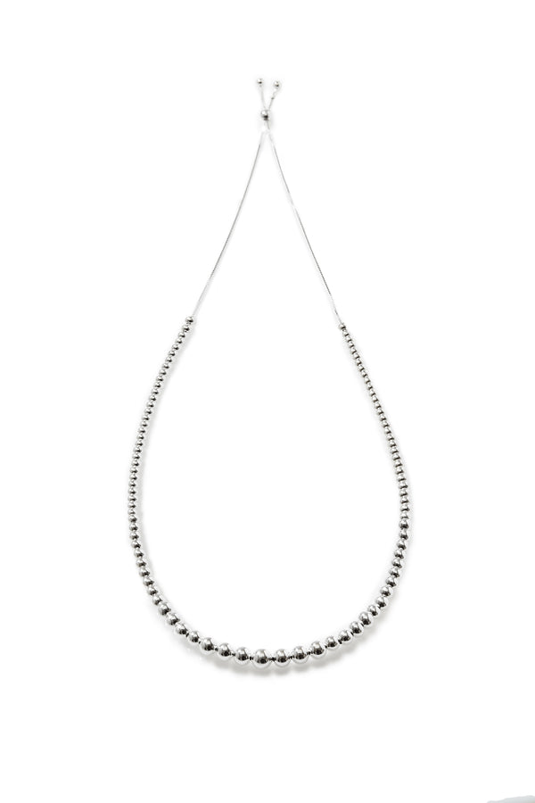 925 sterling silver, rhodium plated necklace.