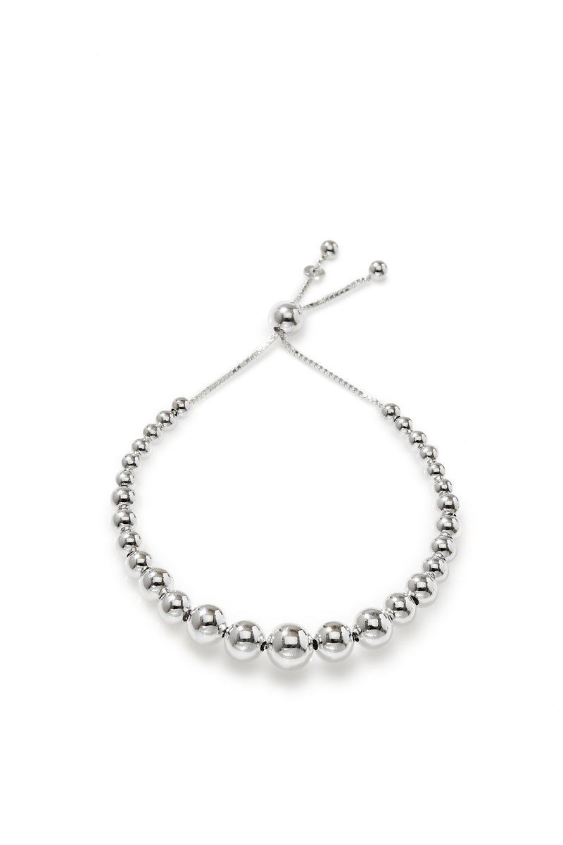 925 sterling silver, rhodium plated bracelet.