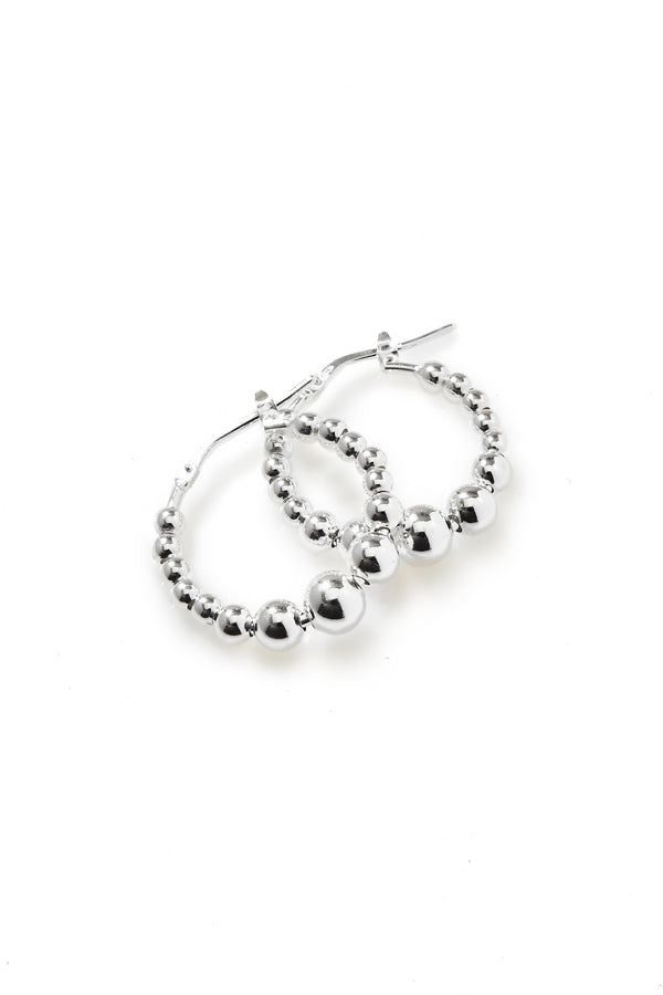 925 sterling silver, rhodium plated earrings.