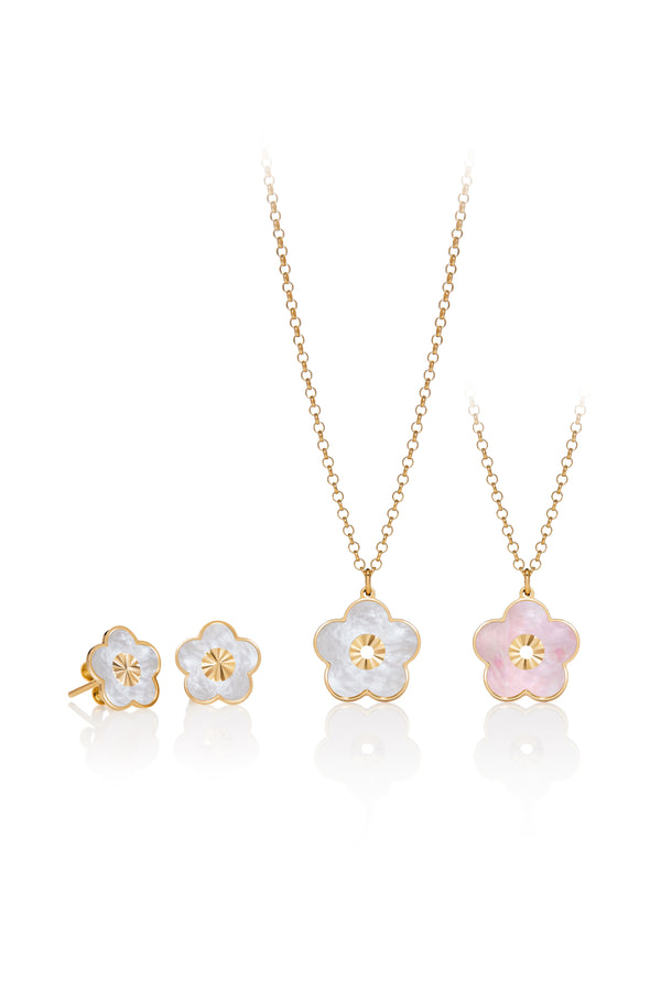 Capri Mother of Pearl Flower Set