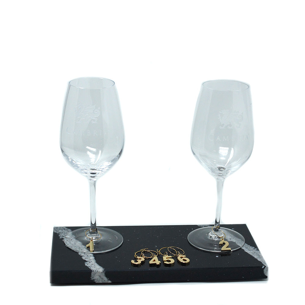 Viski Gold Wine Glass Charms