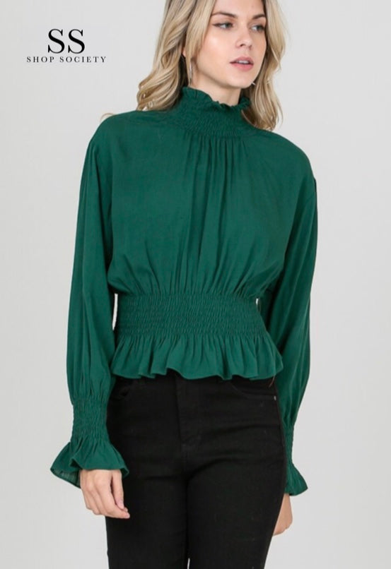 LONG SLEEVES SHIRT WITH BACK ZIPPER