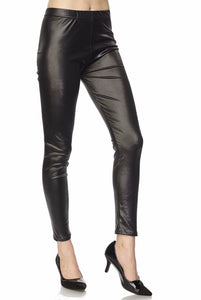 FAUX LEATHER LEGGINGS- PLUS SIZE