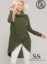 Load image into Gallery viewer, LONG SLEEVE COWL NECK HACCI SWEATER KNIT TOP