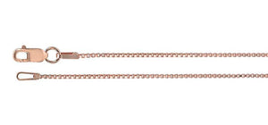 14kt Rose Gold-Filled 1mm Box Chains
