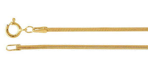 14kt Yellow Gold-Filled 1.6mm Seamed Snake Chains