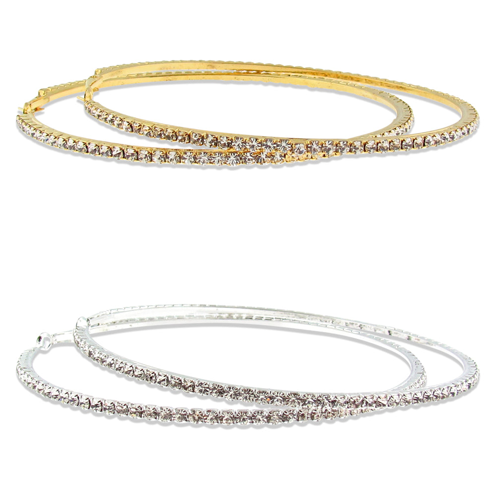 Diamante Sparkle Hoop Earrings