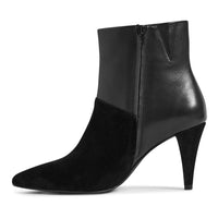 M&S Leather Stiletto Heel Point Toe Ankle