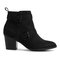 M&S Block Heel Side Zip Ankle Boots - The Outlet London
