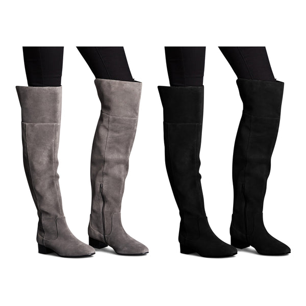 M&S Autograph Leather Block Heel Over The Knee Boots
