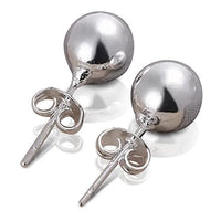 Sterling Silver 925 Plated 0.7cm Small Ball Stud Pierced Earrings
