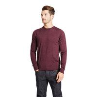 Ex Marks & Spencer - M&S Collection Pure Merino Wool Crew Neck Dark Raspberry Jumper - T303536M