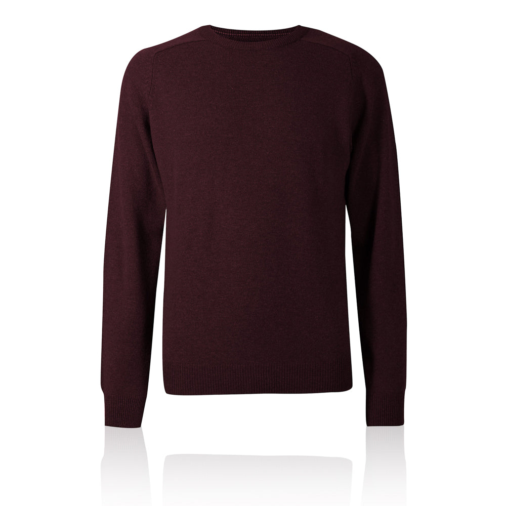 Ex-Marks & Spencer - M&S Collection Amber Pure Extra Fine Lambswool Crew Neck Jumper - T302650M