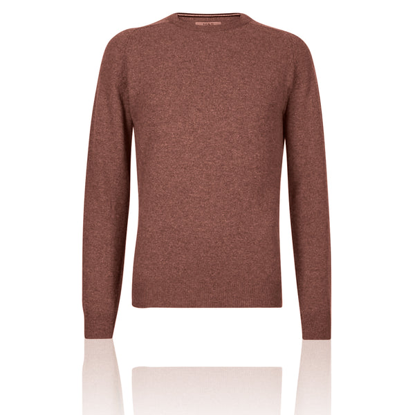 M&S Pure Extra Fine Lambswool Crew Neck Mallow Pink Jumper