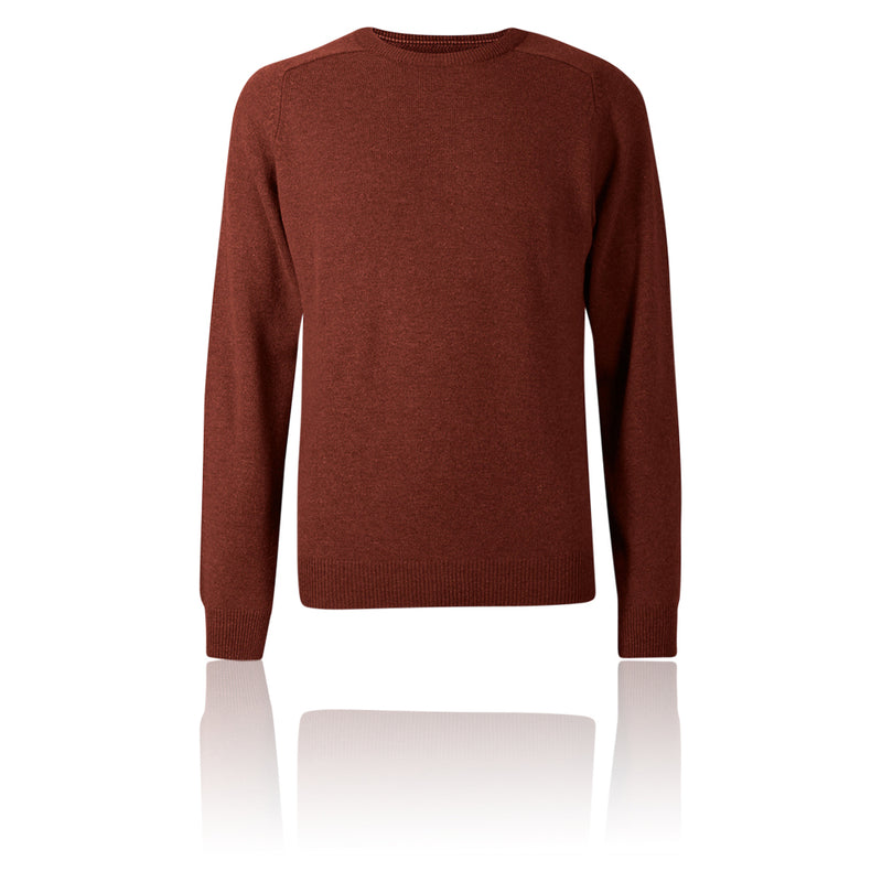 M&S Collection Russet Orange Pure Extra Fine Lambswool Crew Neck Jumper