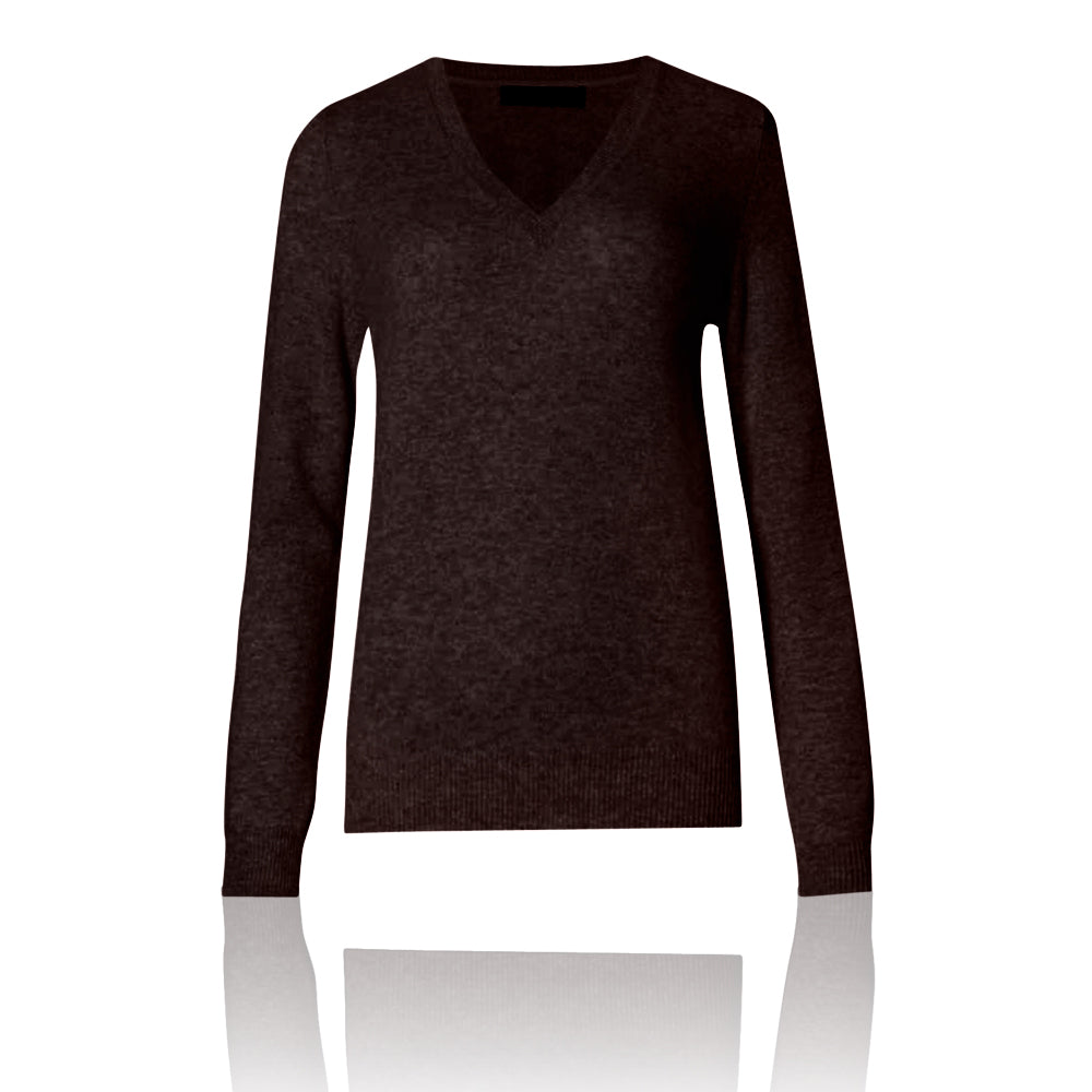 M&S AUTOGRAPH Pure Cashmere Ribbed V-Neck Jumper - The Outlet London