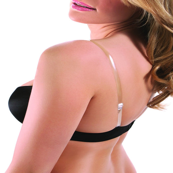 Clear Silicone Invisible Adjustable Bra Strap (1 Pair)
