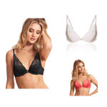 Marks & Spencer - M&S Rosie for Autograph Lace Padded plunge Bra A-E with Silk - T816355B