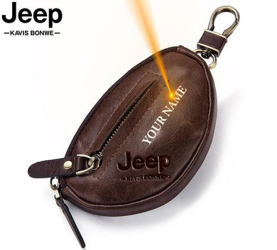 Jeep Coin Purse Genuine Leather Wallet