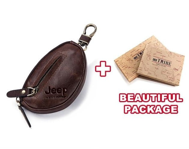 Jeep Coin Personalized Purse Genuine Leather Wallet