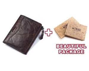 Open image in slideshow, Jeep Leather Personalized Leather RFID Wallet For Men/Women