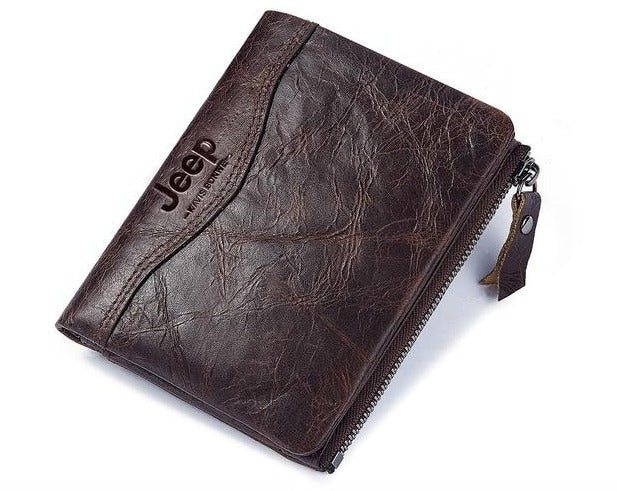 Jeep Leather Personalized Leather RFID Wallet For Men/Women