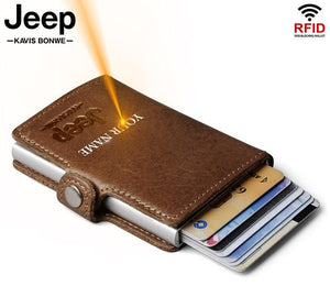 Jeep Rfid Leather Wallet