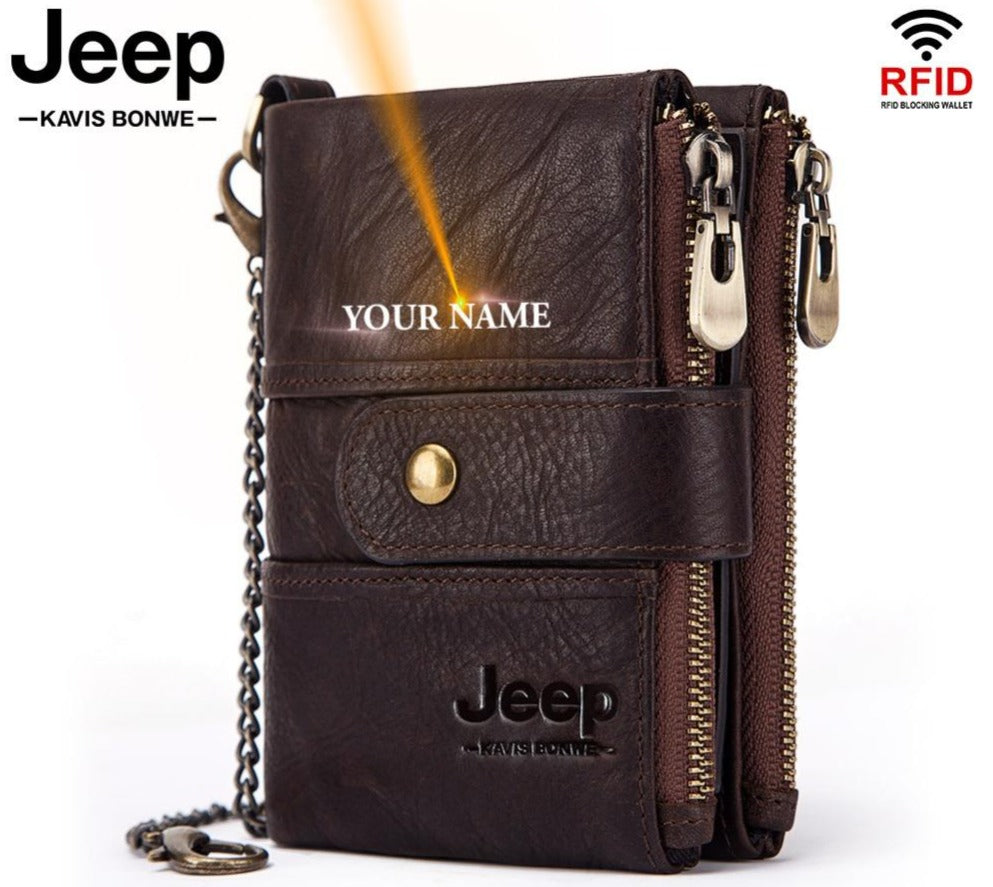 Kavi`s Jeep Adele 100% Cow Genuine Leather Wallet