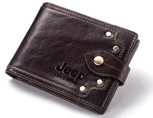Open image in slideshow, Jeep Personalized 100% Genuine Leather Wallet