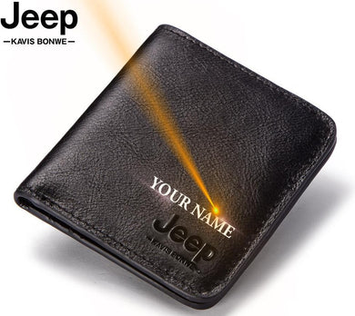 Jeep Thin Cow Genuine Leather Wallet