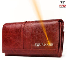 Load image into Gallery viewer, Jeep Real Genuine Leather Women Wallet