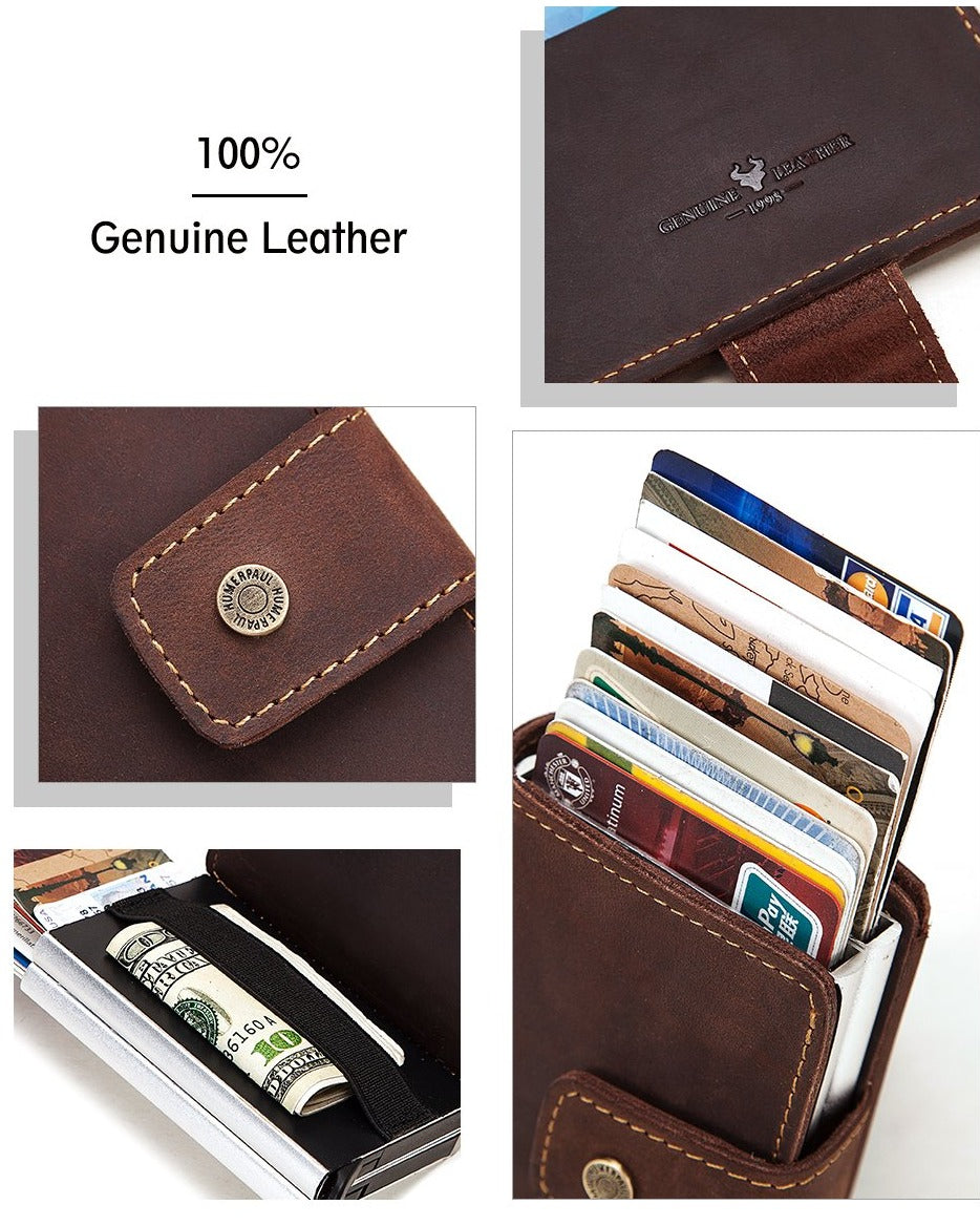 Jeep Personalized RFID Leather Credit Card Holder
