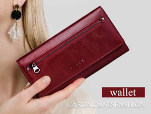 Kavi`s Roche Chic Long Leather Wallet Custom Engraved