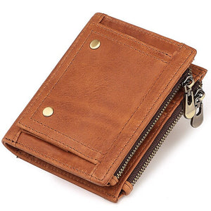 Jeep RFID Cowhide Genuine Leather Wallet