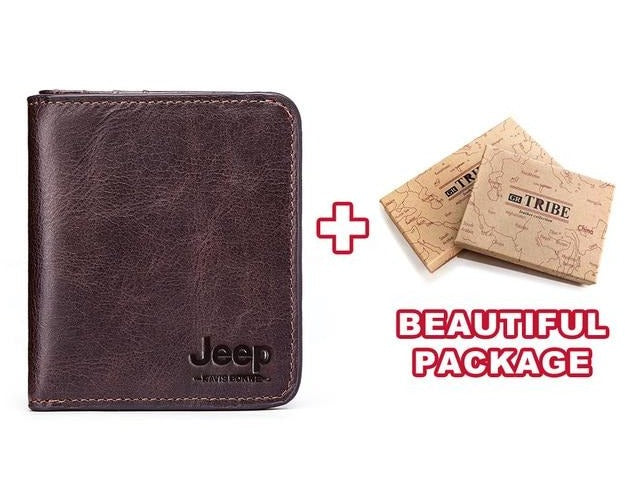 Jeep High Quality Leather Slim Business Wallet