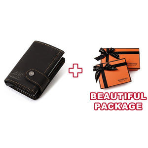 Jeep Wallet Kavi`s Crazy Horse Leather Credit Card Wallet RFID Aluminum Automatically Pop Up Bank