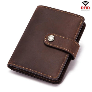 Rfid Anti-Magnetic Card Leather Smart Wallet